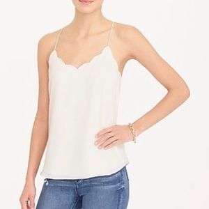 Jcrew scallop cami